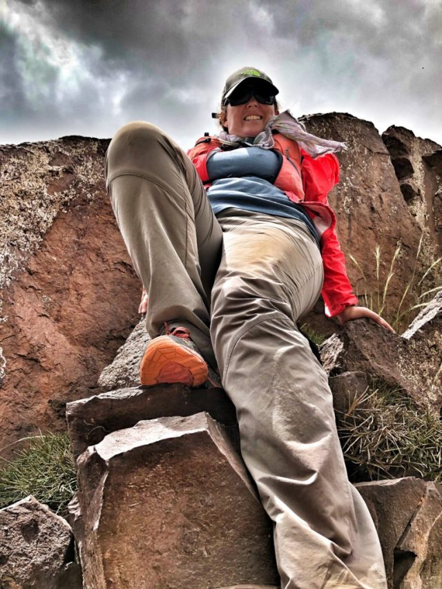 rohan trousers on the rocks