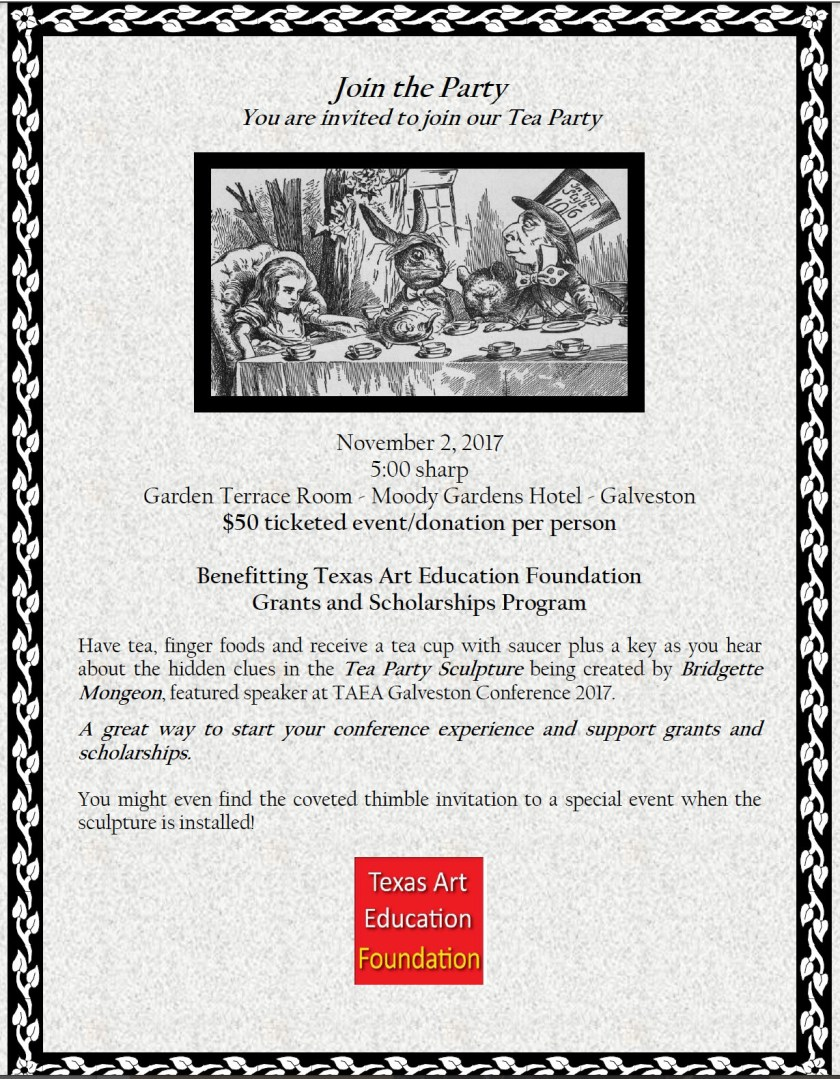 Bridgette Mongeon a Mad Hatter Tea party and art scholarships
