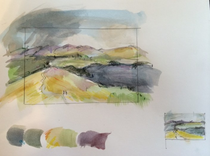 Alice Sheridan Lake District sketchbook