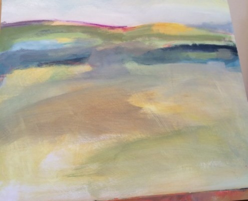 Alice Sheridan beginning of landscape painting