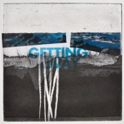 Alice Sheridan 'Blue Horizon 4' etching with chine collé