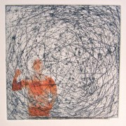 Alice Sheridan 'Trappings III' etching with chine collée
