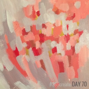 Alice Sheridan 365create aprilcolour abstract mini painting blossom