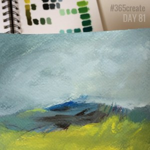 Alice Sheridan 365create aprilcolour abstract painting limited palette