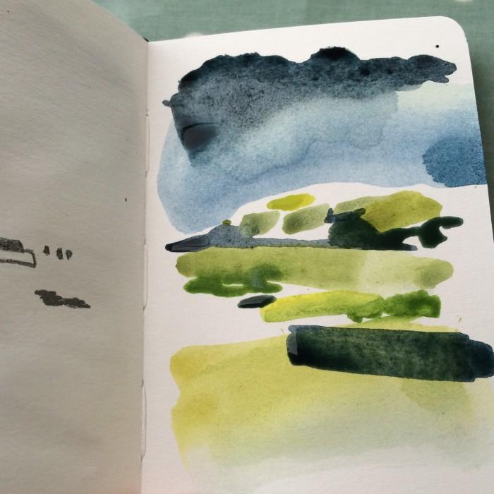 Alice Sheridan abstract watercolour sketchbook
