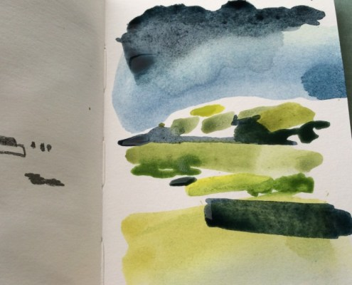 Alice Sheridan abstract watercolour sketchbook