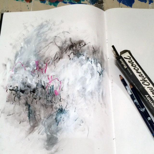BW sketchbook pink
