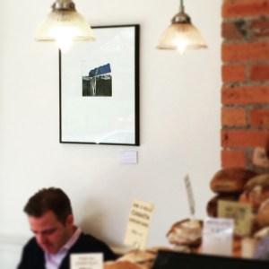 Blue Horizon etching print by Alice Sheridan on display at Laveli
