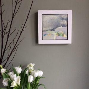 small grey abstract painting by Alice Sheridan