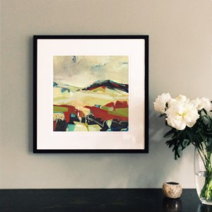 Spaces Between framed 40cm print Alice Sheridan