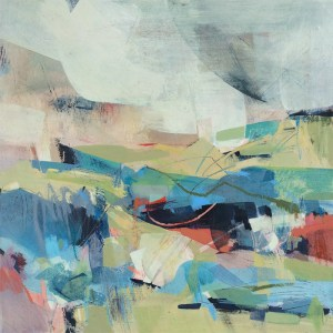 Cloud Watching abstract landscape by Alice Sheridan