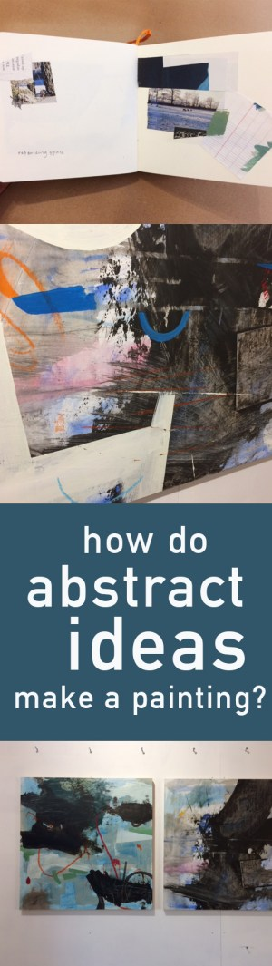 abstract ideas become a painting