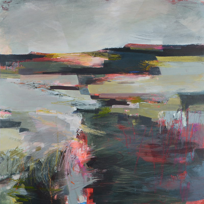 Drift abstract landscape painting by Alice Sheridan
