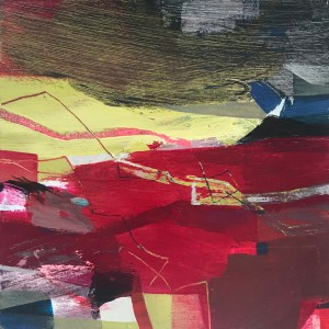 And Why Not small abstract painting Alice Sheridan