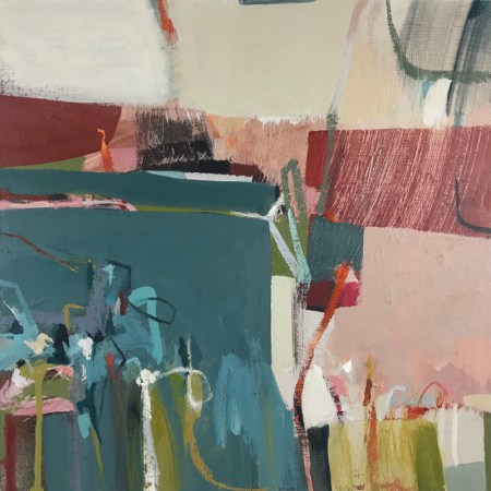 Folded, abstract painting by Alice Sheridan