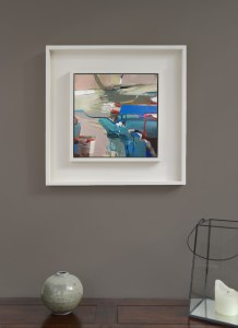 Framed abstract painting by Alice Sheridan ' Floating'