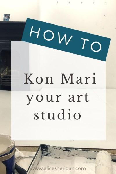 How to kon mari your art studio