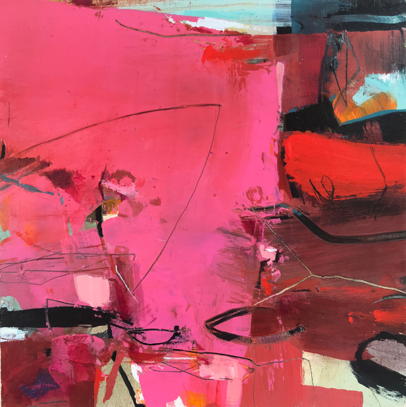 Bright pink abstract by Alice Sheridan