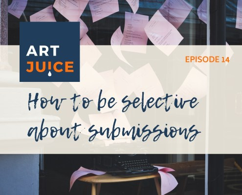 Art Juice podcast choosing artist submissions