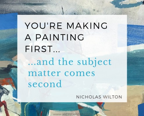 Nicholas Wilton You're making a painting first