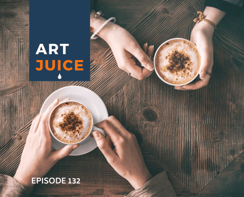 Art Juice coffee chat