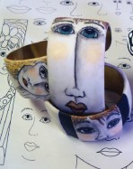pen and ink on polymer clay - Alice Stroppel