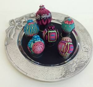 Polymer clay ornaments - Alice Stroppel