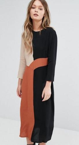 3 Coloured Dress, Asos