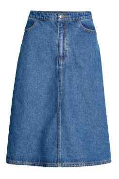 Denim Midi Skirt, H&M