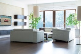Spacious living room with exit to the garden