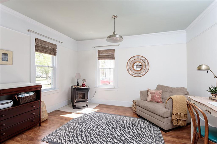 MLS listing photo of home office and multipurpose room staged to sell