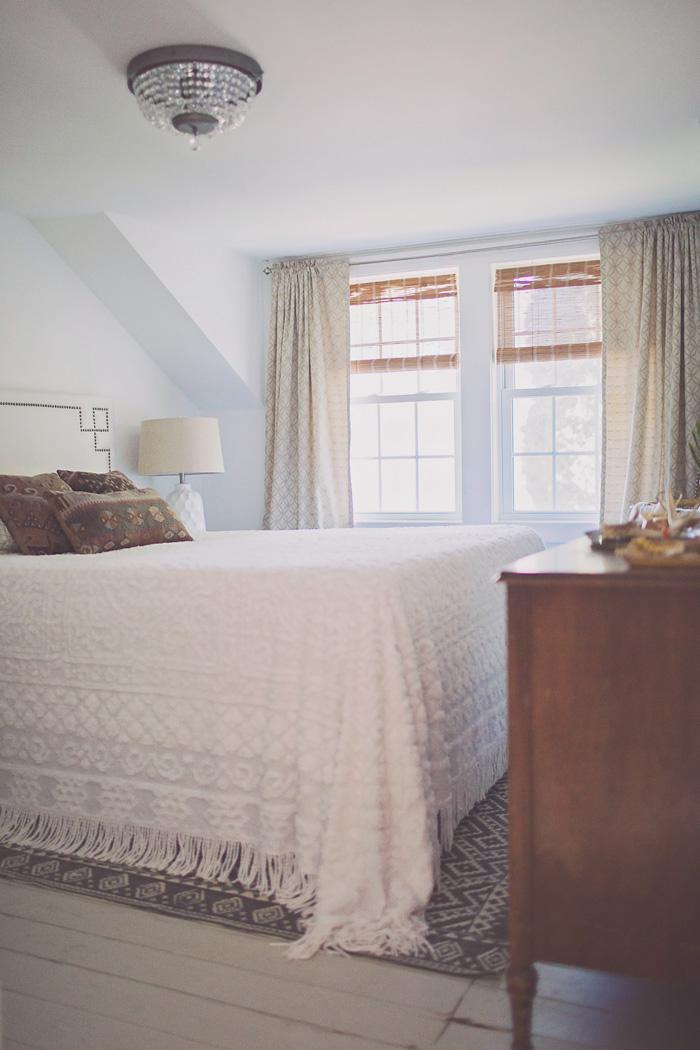 Minimalist Bohemian White Bedroom