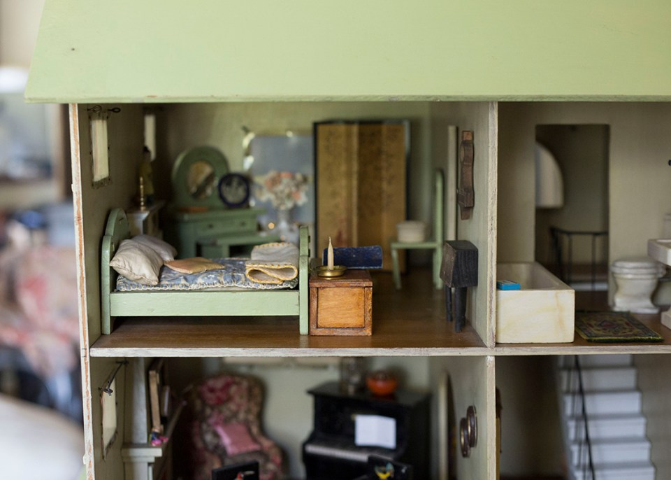 Bedroom Interior Antique Dollhouse