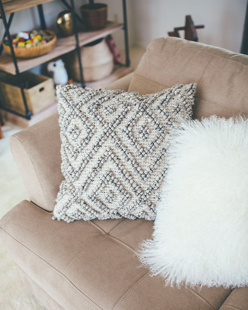 Diamond Textured Throw Pillows