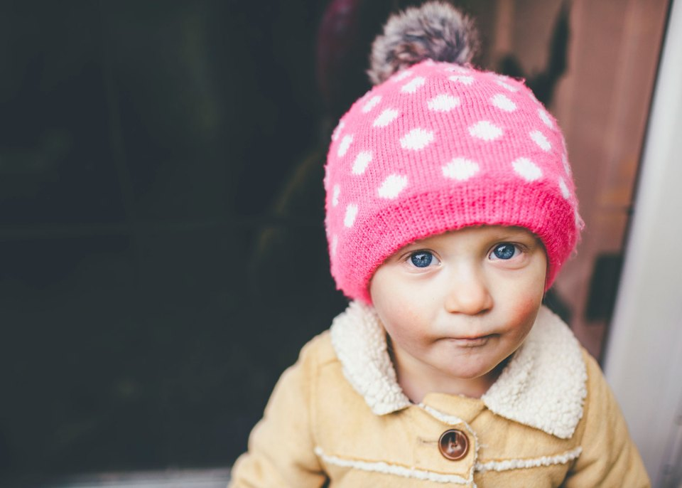 Cute Toddler Dressed for Fall