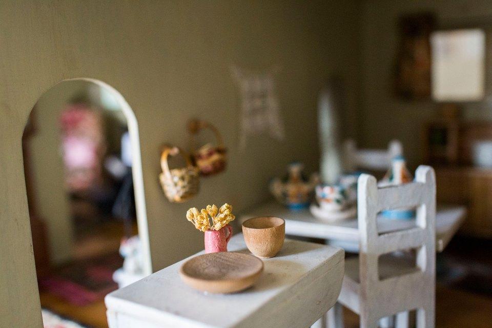 Vintage Farmhouse Dollhouse Kitchen