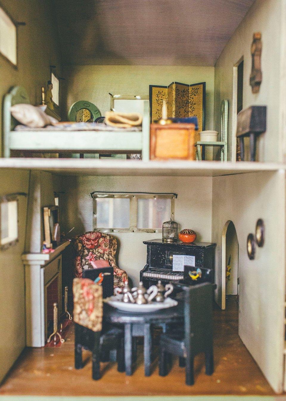 Antique Dollhouse Living Room & Dining Room – Alice Wingerden