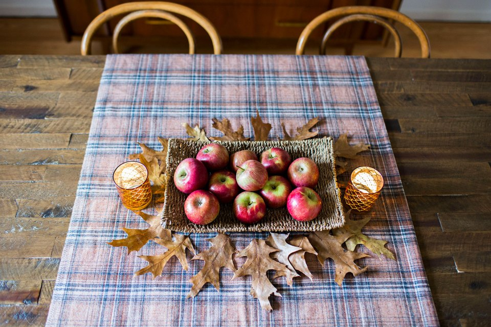 Apples and Leaves Fall Table Decor