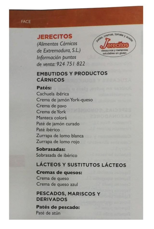 Gama de patés y cremas Jerecitos para desayunos y meriendas.