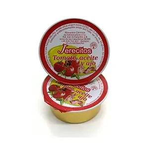 monodosis de tomate, aceite virgen extra y ajo Jerecitos