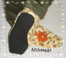 Detalle de la suela de las zapatillas.