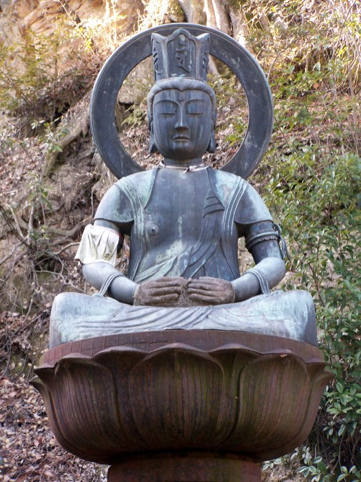 Yakushi Nyorai with mended hands; Shikoku, Japan; 2006