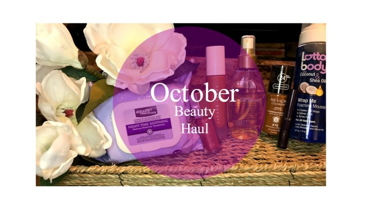 October Beauty Haul
