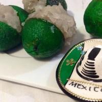 Limones cristalizados con coco