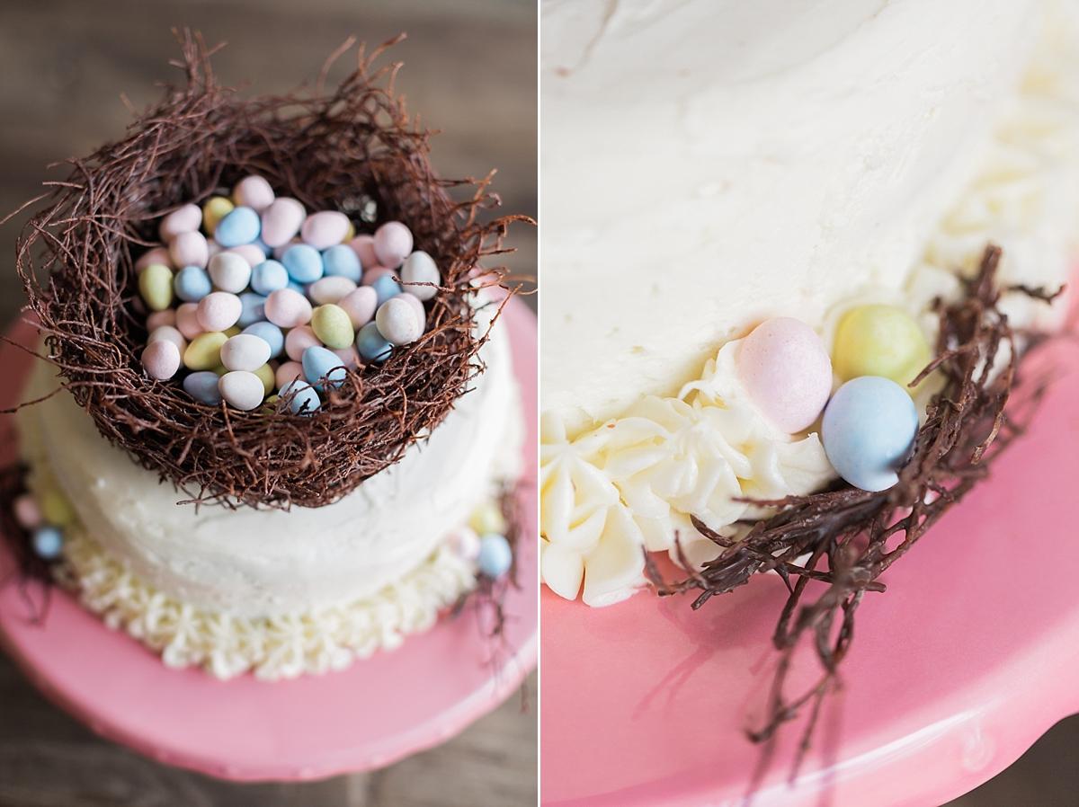 Spring Easter Egg Nest Cake