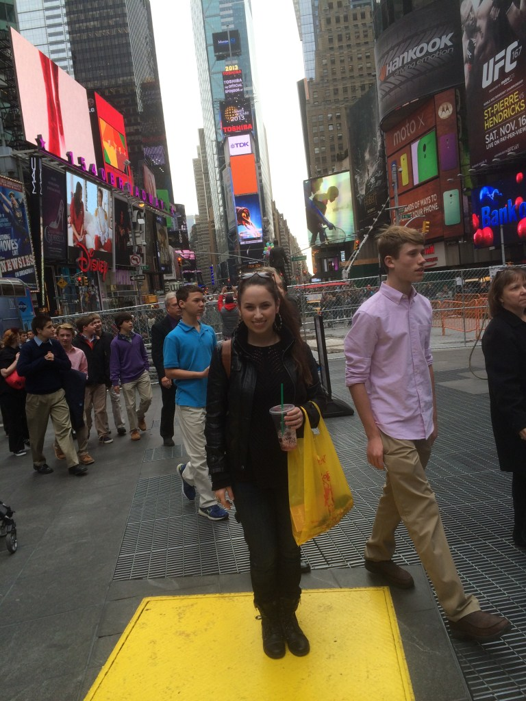 Times Square with Mama