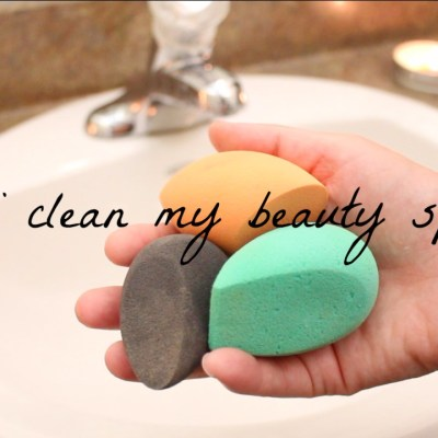 How I Clean My Beauty Sponges