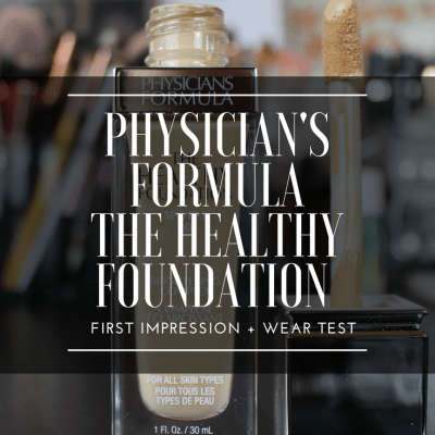 NEW PHYSICIAN'S FORMULA HEALTHY FOUNDATION FIRST IMPRESSION + WEAR TEST