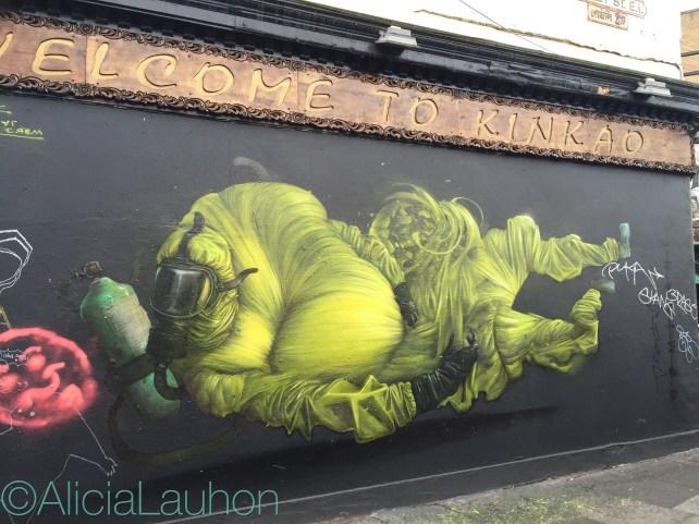 Welcome To KinKao Street Art East End, London   AliciaTastesLife.com