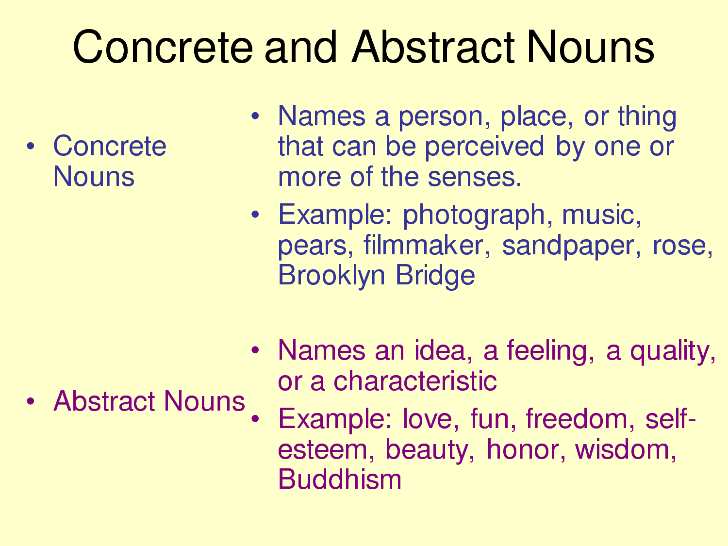 Abstract Nouns Pictures To Pin